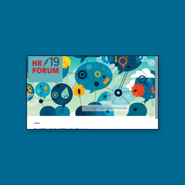 Web Design for HR Forum 2019. Reskilling & Upskilling For Success